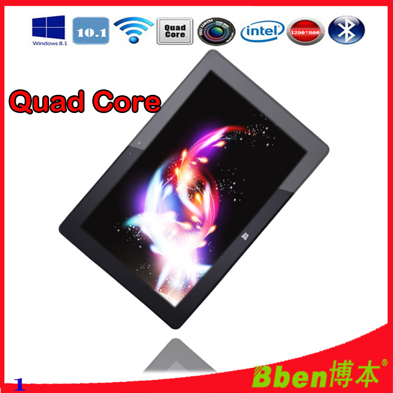 2014 new Tablet-pc with Russian keyboard 10.1 Inch IPS Screen windows 8 laptop tablet dual Camera Bluetooth quad core(China (Mainland))