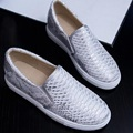 plus size 34 43 2016 New Arrive Gold Silver Women Flats Round Toe Soft Leather High