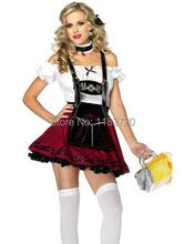 Livraison gratuite Oktoberfest Bière Fille Costumes promotionnel serveur servant costumes robe taille S-3XL