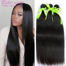 Peruvian Virgin Hair Straight 3 Bundles Human Hair Weave Bundles Peruvian Straight Virgin Hair Unprocessed Straight Virgin Hair(China (Mainland))