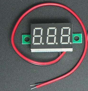NEW DC 4.5V-30V 2 wires 3 bits Red Digital Voltage Panel Meter Voltmeter tester for car(China (Mainland))