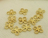 10mm leaf shape Antique Bronze /gold Plated you can choose Flower Filigree connector accessories<br><br>Aliexpress