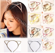 Stylish Women Girls Cat Ears Headband Hair Sexy Head Band Self Photo Prop 7 Colors#SMT1530(China (Mainland))