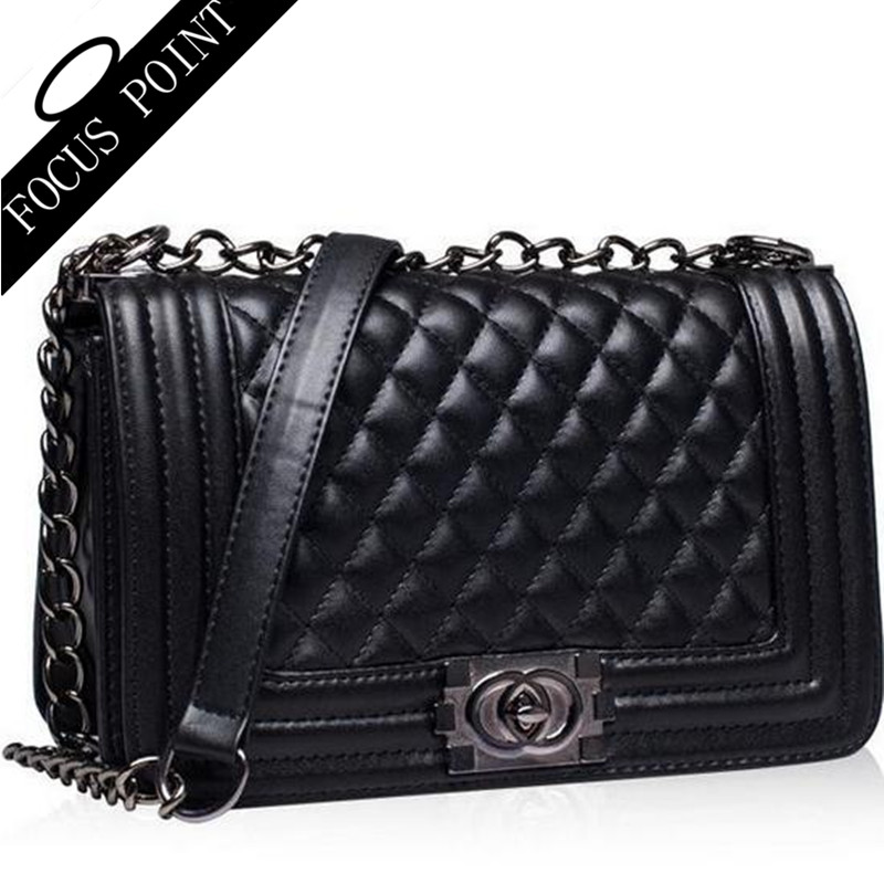 Luxury brands women Handbags leather Genuine Crossbody shoulder bags 2016 Brands Famous quilted Chain Women messenger bags