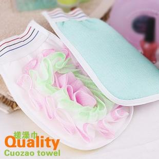 Min. order is $15 (mix order) C1006 good helper scrubbing bath gloves bubble bath flower small cloth bathwater(China (Mainland))