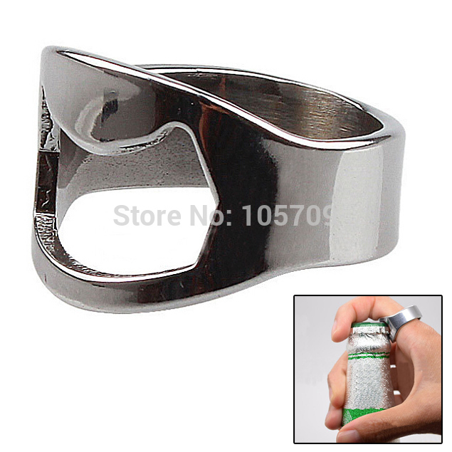A10 5pcs Stainless Steel Finger Ring Bottle Opener Beer Bar Tool Practical Party IA887 P(China (Mainland))