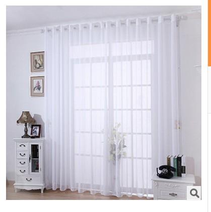 Compra cortinas de lino blanco online al por mayor de for Cortinas opacas blancas