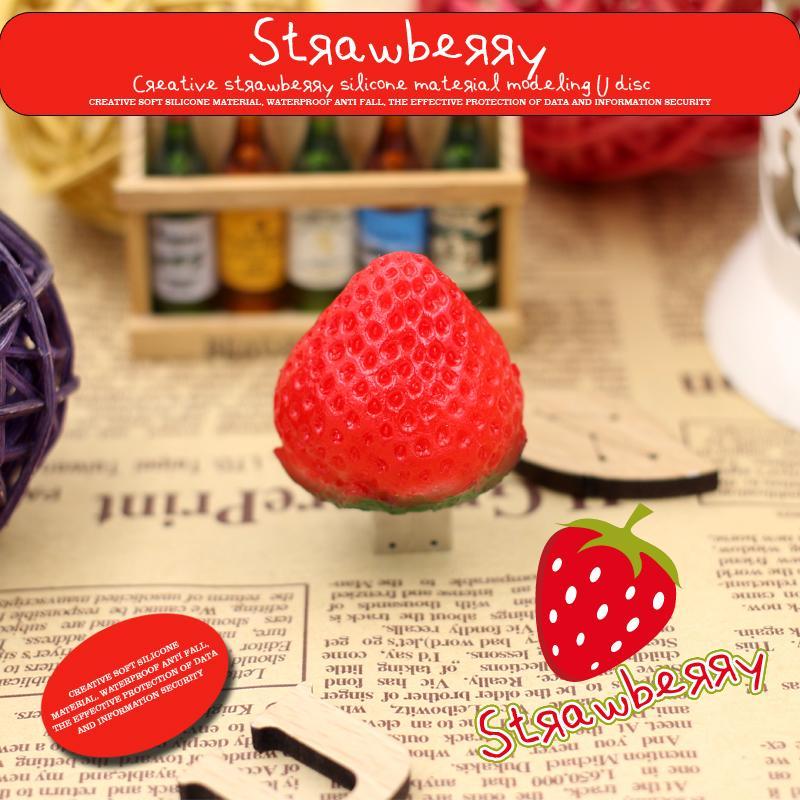 USB Flash Drive Cartoon strawberry USB Pen drive 32GB Bulk USB Fruit Pendrive 16GB Memoria USB Stick 8GB Memory Stick Free Ship(China (Mainland))