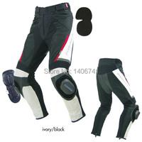 для Комине pk-717 спортивная езда кожаный сетка штаны Мотокросс езда брюки с колена протектор Райдер брюки черные