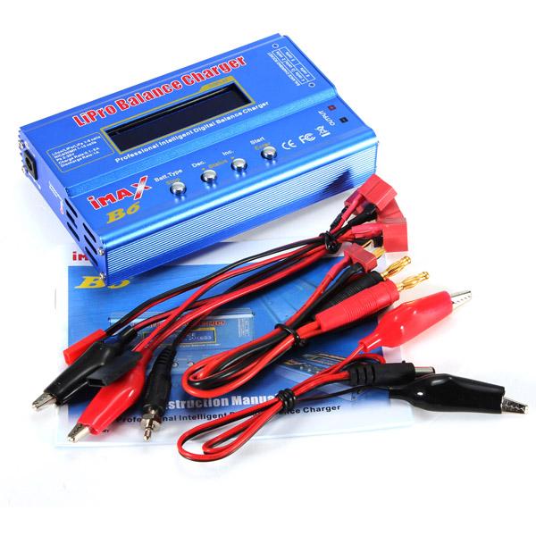 High Quality iMAX B6 Lipo NiMh Li-ion Ni-Cd RC Battery Balance Digital Charger Discharger(China (Mainland))