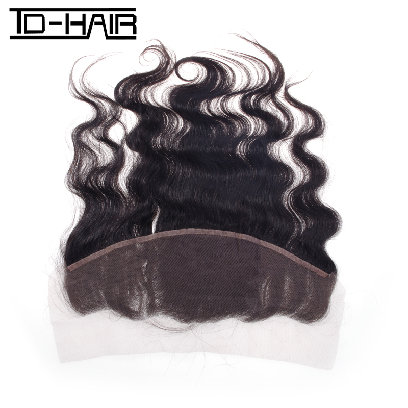 Peruvian Virgin Hair Body Wave Lace Frontal 13*4 unprocessed human hair Natural black #1B TD HAIR product<br><br>Aliexpress