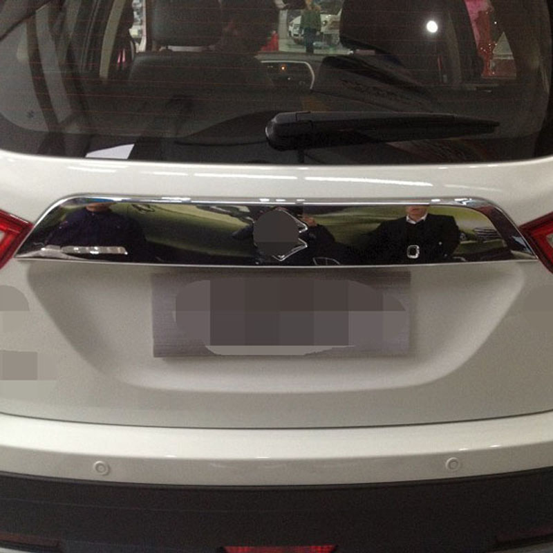 China Manufacture ABS Chrome Rear Trunk Streamer For Suzuki S-cross 2014 Car Accessories(China (Mainland))