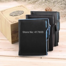 2015 New Fashion Men's Faux Leather ID credit Card holder Bifold Coin Purse Wallet Pockets