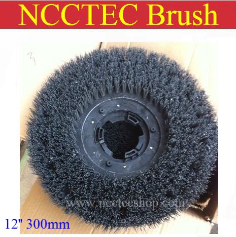 12'' steel wire floor clean brush | 300mm circular antique brush disc for granite marble with floor polisher(China (Mainland))