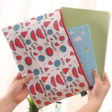 Creative Fruits And Letters A4 Waterproof PU Leather File Folder Document Filing Bag Stationery Bag(China (Mainland))
