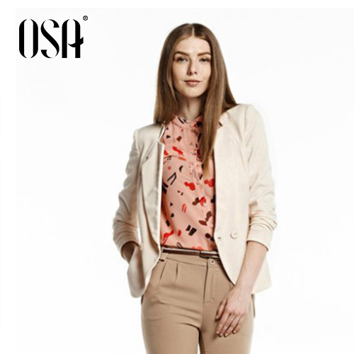 OSA 2014 New Arrival Womens OL Stylish Autumn Winter Blazers Double Breasted Suits Coat Jacket Plus Size SW422004(China (Mainland))