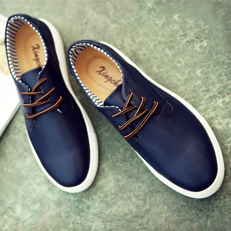 2015 fashion comfortable Genuine Leather men sneaker,Large size men shoes,brand sport shoes,quality men shoes sneakers(China (Mainland))