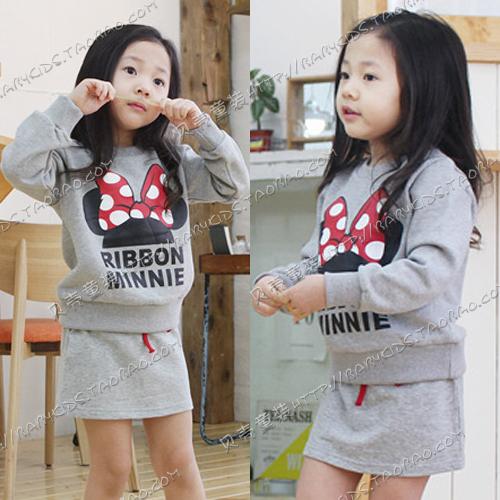 2014 spring autumn girls clothing baby child long-sleeve sweatshirt short skirt set tz-0237 - rebecca lin's store