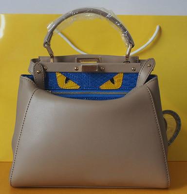 Fashion Lovely Real Genuine Leather Monster Eyes Handbag Tote Shoulder Messenger Bag High Quality(China (Mainland))
