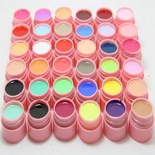 36 Colors Pure UV Gel Nail Varnish Tips Pure Fine Shiny Cover French Manicure Set brand style hot selling gel tools(China (Mainland))