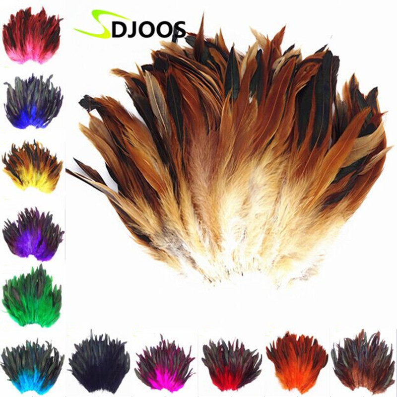 200 PCS Natural Colourful Rooster Feathers Fly Tying Bulk Feathers Christmas Decorations For Home Wedding New Year Cosplay Sale(China (Mainland))