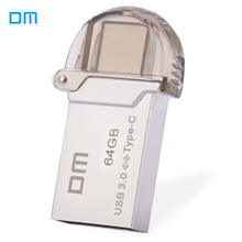 DM PD019 Type-C OTG USB 3.0 Flash Drive 32GB 16GB 64GB Pen Drive Smart Phone Memory Mini USB Stick Type - C 3.1 Dual Double Plug(China (Mainland))