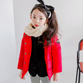 2016 New arrival Girls Coat Winter Warm Padded Cotton Short Jacket Outerwear Coats 4 colours