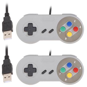 Новый 2 шт. Супер Игровой Контроллер для SNES USB Классический Геймпад для ПК MAC Игры для XP/Vista/Windows7/8/Mac os для Nintendo SNES