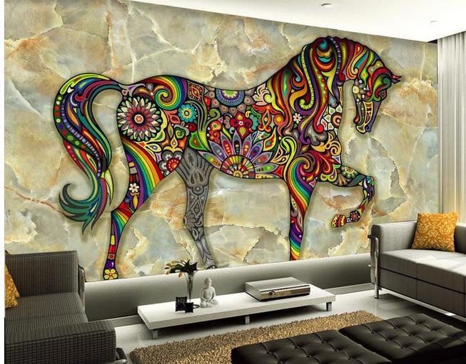3d wallpaper european minimalist bedroom living room tv for 3d marble wallpaper