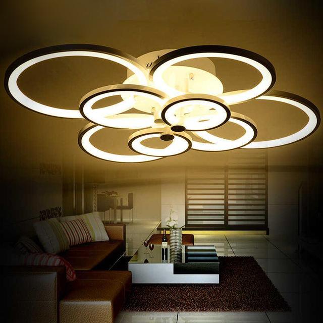 Deckenleuchten Led Modern : bedroom modern led ceiling lights luminarias para sala dimming led ...