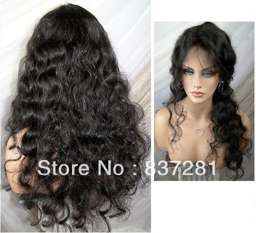 body wave 100% virgin brazilian hair lace front wig baby - Flower factory store