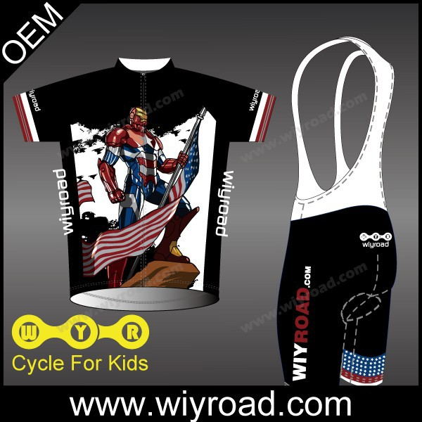 Accept sample order baggy kids cycling wear/wholesale cycling clothing children/cartoon cycling wear(China (Mainland))