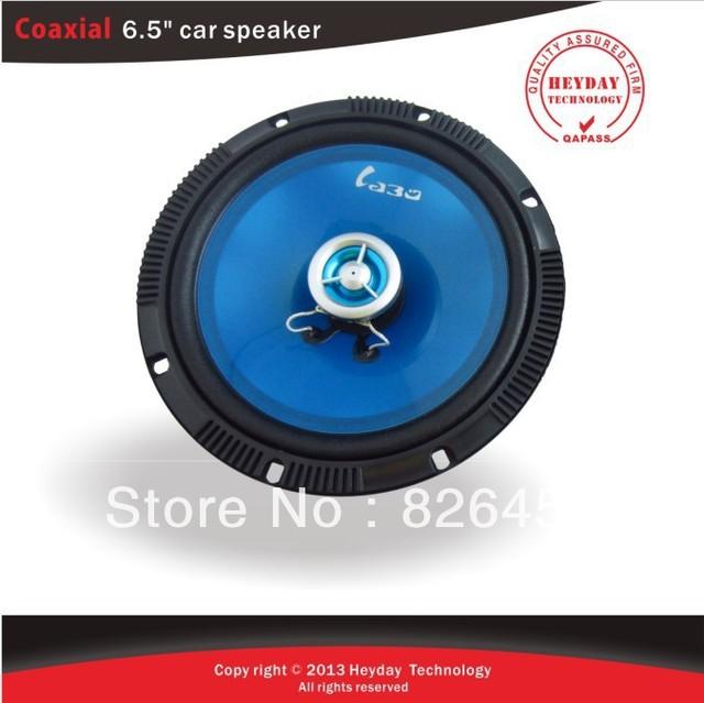 Transparent Blue press-up papar 6.5inch coaxial car speaker