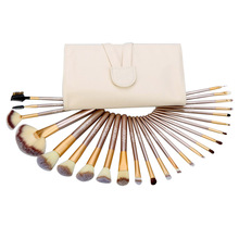 Abody Soft 12Pcs/24Pcs Makeup Brushes Set Professional Cosmetic Make Up Tools Face Blush Eyeshadow Brush Set with Leather Bag(China (Mainland))