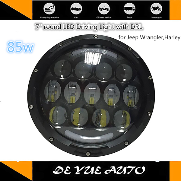 """Good News! Made in China factory 7"""" round LED headlights 85w head lamps ip67 6000k - 7000k good price LED lights for Jeep truck(China (Mainland))"""