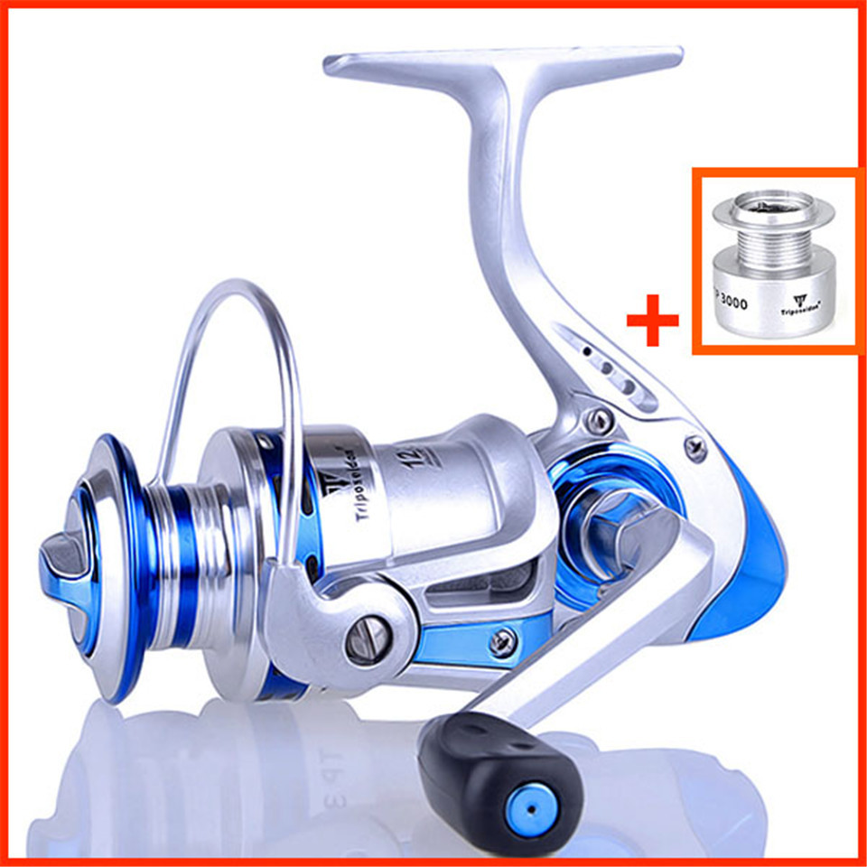Metal Spinning Fishing Reel Ball Spare Spool Carp Wheel Gear 2/3/4/5000 Series Left / right handle interchangeable collapsible(China (Mainland))