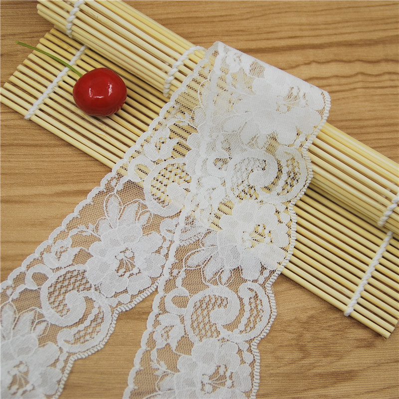 Factory Sale Elegant 50mm white Lace Fabric Trim Gorgeous Cheap Lace Ribbon DIY Packing Trims Garment Accessories 50 yards L5660(China (Mainland))