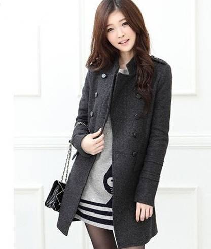 Winter Fashion 2015 New Women Coat Trench Korean Slim Double-breasted Stand Collar Warm Wool Blended Jackets Size S-XL W23 - Beauty Mother store