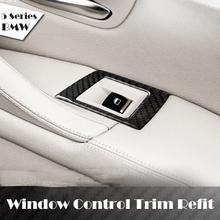 Buy Car Interior Carbon Fiber Refit Window Control Lifter Trim Sticker Refit Lifter Frame Decoration BMW 5 Series F18 525li 520 for $17.20 in AliExpress store