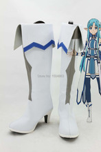 Sword Art Online Asuna Cosplay Boots High Boots Free Shipping(China (Mainland))