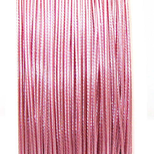 High quality stainless steel wire,0.6mm pink korea tigertail beading wire,thread cord,coated with plastic protective film wire(China (Mainland))