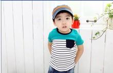 2016 Children Kids Clothing ,Cool strip Baby Boys T Shirts For Summer,Children Outwear Baby T-shirt  hot sles