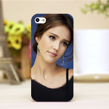 pz0006-3-4-3 Jessica Alba Design cellphone cases For iphone 4 5 5c 5s 6 6plus Shell Hard Lucency Skin Shell Case Cover