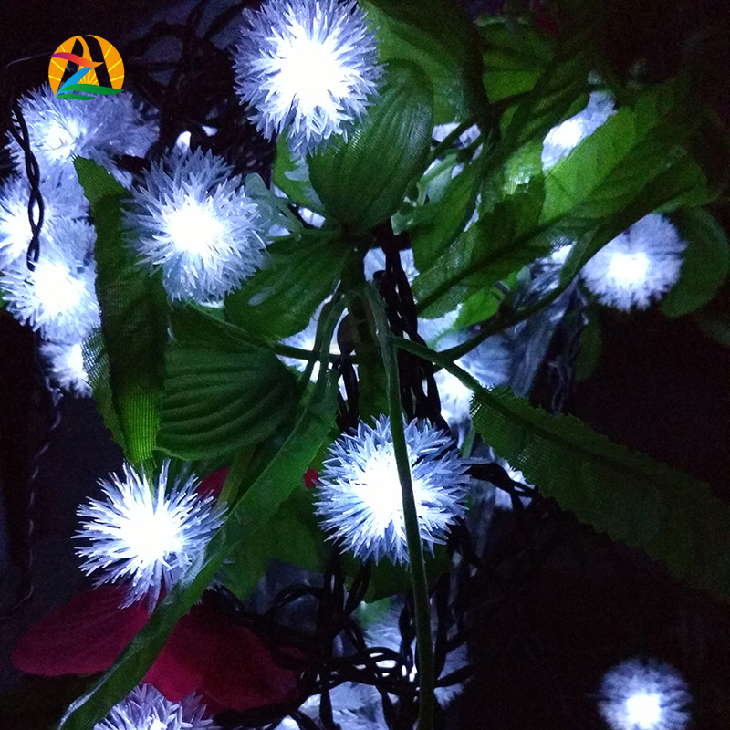 12M 100 LED Pendant LED solar lamp string Lights Decoration For Christmas Tree Party Outdoor Garden Patio Lantern(China (Mainland))