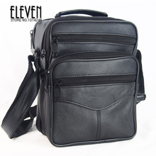 Hot Sale New 2014 Fashion Designer Men Shoulder Bags Genuine Leather Bags For Men Messenger Business Bag Black ,free shipping