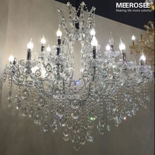 Crystal Chandelier Light Fixture Large Project Hotel Lighting for Restaurant Villa Lustrs Suspension Lamp 100% Guarantee(China (Mainland))