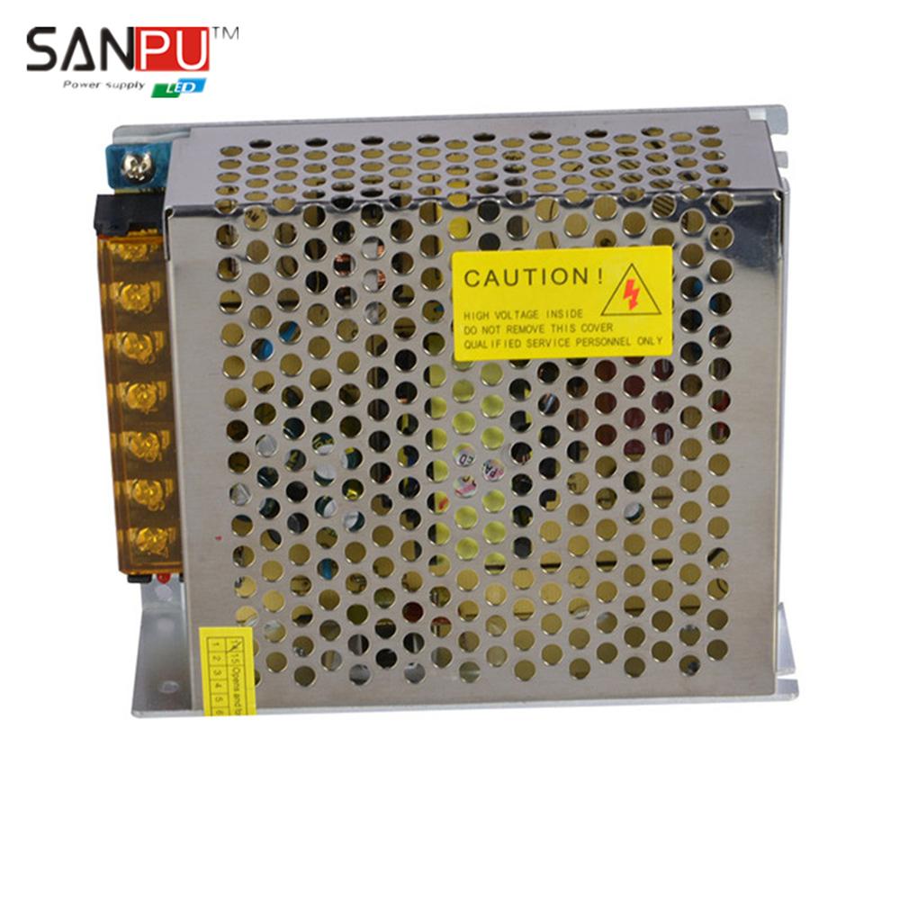 SANPU SMPS LED Driver 100w 24v 4a Constant Voltage Switching Power Supply 110v 120v ac/dc Lighting Transformer for LEDs Lights(China (Mainland))