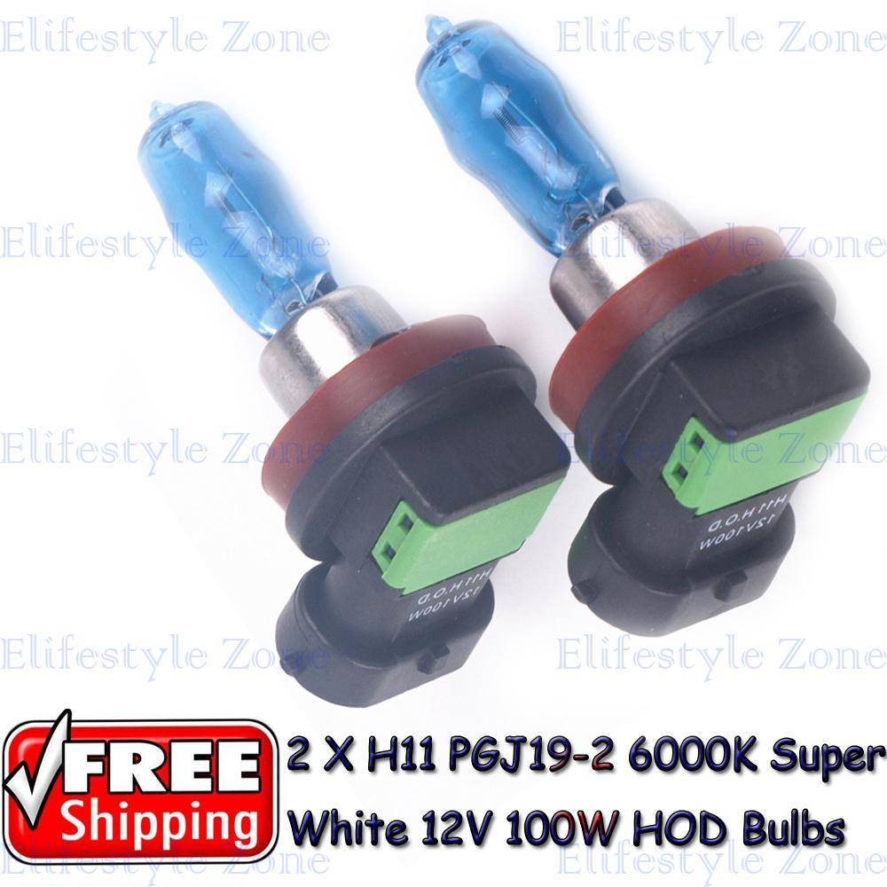2 x H11 PGJ19-2 12V 6000K 100W Super White High Beam Low Beam  Auto Car HOD Halogen Bulbs Lamps Headlight Bulbs<br><br>Aliexpress