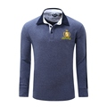 2016 Fashion Polo Minimalist Personality Stitching Men s Business Casual Sports Polos Shirt Cotton Long sleeved