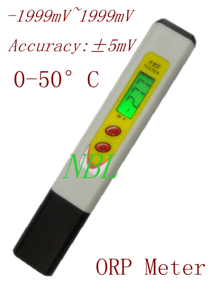 Pocket Pen Type ORP Meter ORP-969 Oxidation Redox Tester With Hold Switch -1999mV~1999mV For Aquarium Pool Free Shipping(China (Mainland))